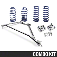 SR Performance Strut Tower Brace & Lowering Spring Kit - Chrome (94-04 GT) - SR Performance 41293||53150||41112
