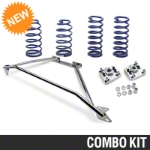 SR Performance Strut Tower Brace & Lowering Spring Kit - Chrome (94-04 GT) - SR Performance 41112||41293||53150