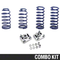 SR Performance Caster Camber Plate & Lowering Spring Kit (94-04 GT, Mach 1, 94-98 Cobra) - SR Performance 41293||53150