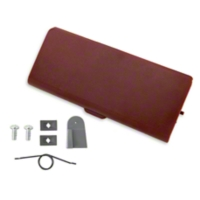 Ash Tray Door and Repair Kit - Red (87-93 All) - AM Restoration 1000-108||12736||95600||E7ZZ-6104786-RD
