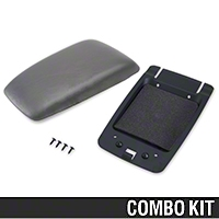 Center Console Arm Rest Kit - Titanium Gray (90-92 All) - AM Restoration 87232||94365||94389