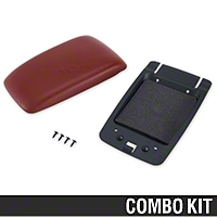 Center Console Arm Rest Kit - Red (87-93 All) - AM Restoration 87232||94367||94389