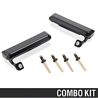 Outer Door Handle Resto Kit - Black (79-93 All) - AM Restoration 87202||94304||94305