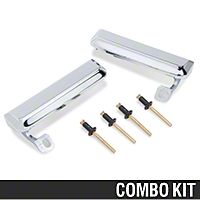 Outer Door Handle Resto Kit - Chrome (79-93 All) - AM Restoration 87202||94417||94418