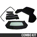 Convertible Top Resto Kit - Black (85-90 All) - AM Restoration 17180||95009||95011||95049