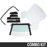 Convertible Top Resto Kit - White (85-90 All) - AM Restoration 17180||95049||95065||95066