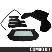 Convertible Top Resto Kit - Black (91-93 All) - AM Restoration 17180||95010||95011||95050
