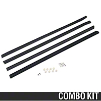 Exterior Door to Window Molding And Seal Kit - Coupe/Hatchback (87-93 All) - AM Restoration 87233||94306||94308