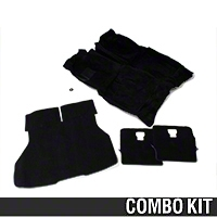 Floor and Hatch Carpet Kit - Black (87-93 Hatchback) - AM Restoration 50102||50104