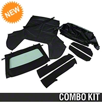 Convertible Top Kit - Black (91-93 All) - AM Restoration 95010||95011||95050||95057