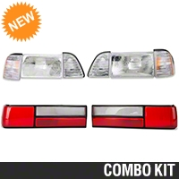 Headlight and Tail Light Kit (87-93 LX) - AM Lights 94324||94336||94337