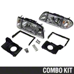 Chrome Headlights and Adjusting Plate Kit (87-93 All) - AM Lights 42015||97003
