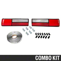 Replacement LX Style Tail Light Lens - Pair (87-93 All) - AM Lights 94354||99921