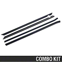 Inner And Outer Door Window Weatherstrip Kit - Coupe/Hatchback (87-93 All) - AM Restoration 95703||95706