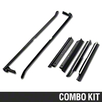 Outer Door And Quarter Window Belt Weatherstrip Kit - Convertible (87-93 All) - AM Restoration 95704||95713||KF2049||KF2068
