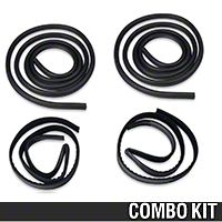 Door To Body & Window Run Channel Weatherstrip Kit - Coupe/Hatchback (79-93 All) - AM Restoration E9ZZ-6121596-A||E9ZZ-6121597-A||2155641||12121||12122||94340
