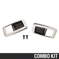 Chrome Inner Door Handle Bezel Kit (79-93 All) - AM Restoration 2155653||87209||891||94464
