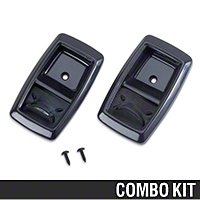 Black Inner Door Handle Bezel Kit (79-93 All) - AM Restoration 87209||94313