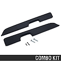 Black Door Armrest Pad Kit - Power Windows (87-93 All) - AM Restoration 12153||12155||87228