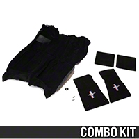 Floor Carpet and Pony Logo Floor Mat Kit - Black (82-93 All) - AM Restoration 50102||93000