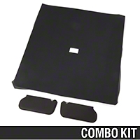 Cloth Sunvisor And Headliner Kit - Black (85-91 Coupe) - AM Restoration 069948SB1559||20-73005-1559||81578-A||95500