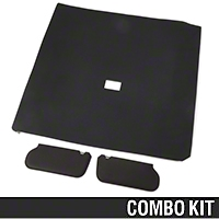Cloth Sunvisor And Headliner Kit - Black (85-91 Hatchback) - AM Restoration 81578-B||20-75005-1559||95500||069948SB1559