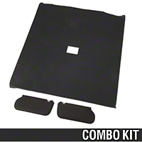 Cloth Sunvisor And Headliner Kit - Black (92-93 Coupe) - AM Restoration 069948SB1559||20-73000-1559||81578-C||95500