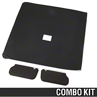 Cloth Sunvisor And Headliner Kit - Black (92-93 Hatchback) - AM Restoration 069948SB1559||20-75000-1559||81578-D||95500