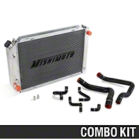Mishimoto Radiator and Silicone Hose Kit - Automatic (86-93 5.0L) - Mishimoto MMHOSE-MUS-86BK||MMRAD-MUS-79A