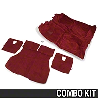 Floor and Hatch Carpet Kit - Red (87-93 Hatchback) - AM Restoration 49802||49813