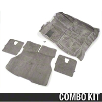 Floor and Hatch Carpet Kit - Titanium Gray (90-92 Hatchback) - AM Restoration 49801||49810