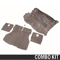Floor and Hatch Carpet Kit - Smoke Gray (87-89 Hatchback) - AM Restoration 49800||49807