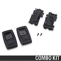 Interior Door Handle and Bezel Kit - Black (79-93 All) - AM Restoration 17543||17544||87209||94313
