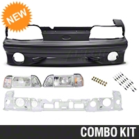 Front Bumper Cover and Headlight Kit (87-93 GT) - AM Restoration 99973