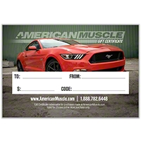 $25 American Muscle Gift Certificate - AM Accessories gc25email||gc25