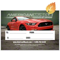 $50 American Muscle Gift Certificate - AM Accessories gc50email||gc50
